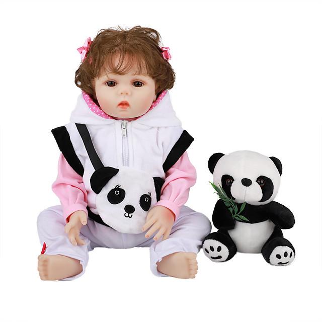 FeelWind 18 дюймовый Куклы реборн Игрушки для младенцев Куклы Девочки Подарок Очаровательный Милый Взаимодействие родителей и детей Гофрированные и запечатанные ногти Полный силикон для тела