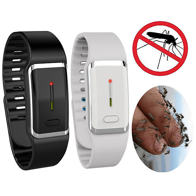 Smart USB Rechargeable Ultrasonic Mosquito Repeller Bracelet Outdoor Electronic Insect Repeller