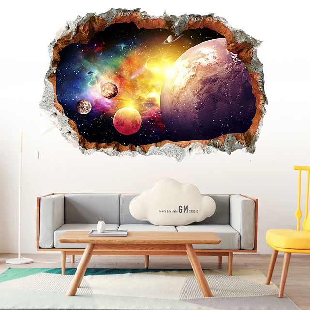 3D Starry Sky Wall Stickers 3D Wall Stickers Decorative Wall Stickers PVC Home Decoration Wall Decal Wall Decoration 1pc