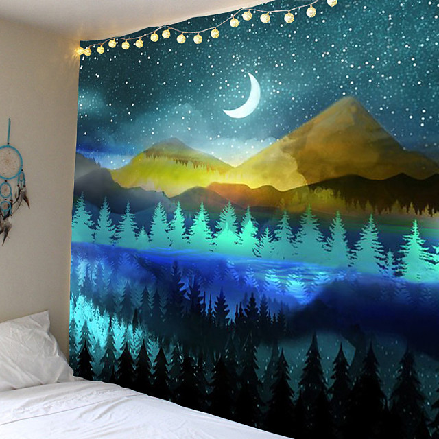 Psychedelic tapestry landscape theme background cloth decorative cloth hang cloth at home