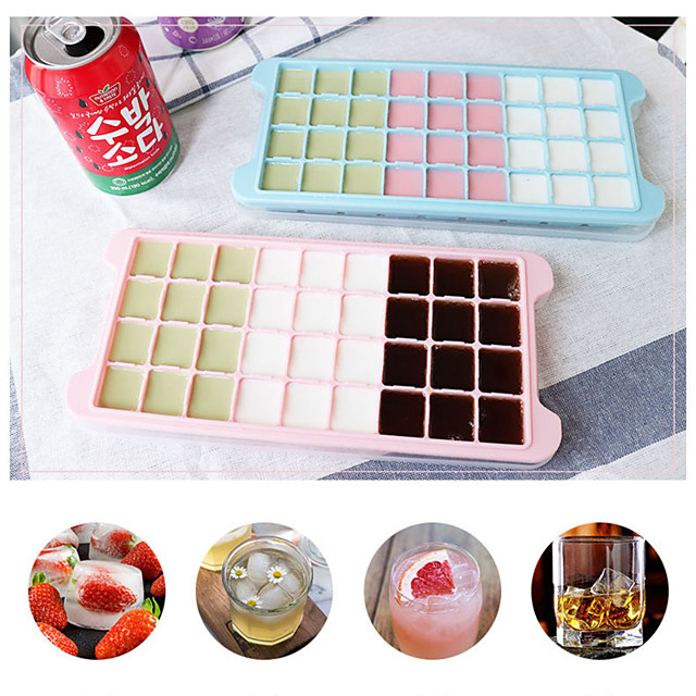 24 Grid Ice Cube Mold Silicone Ice Cube Tray Square Ice Tray Mold Easy Release Silicone Ice Cube Maker Bar Kitchen Accessories