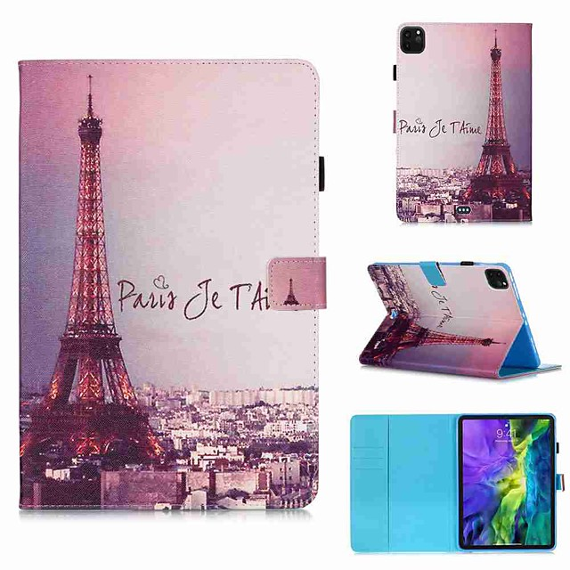 Case For Apple iPad Pro 11''(2020) / iPad 2019 10.2 / Ipad air3 10.5' 2019 Wallet / Card Holder / with Stand Full Body Cases Autograph Tower PU Leather / TPU for iPad Air / iPad 4/3/2 / iPad (2018)