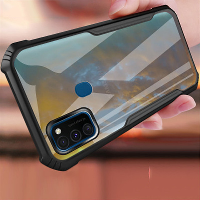 Shockproof case For Samsung Galaxy A91 A81 A51 A71 S20 S10 Lite  A50s A10 A20 A30 A31 A21 Note 10  10 Plus 10Lite S20Plus S20Ultra S10 Transparent Covers