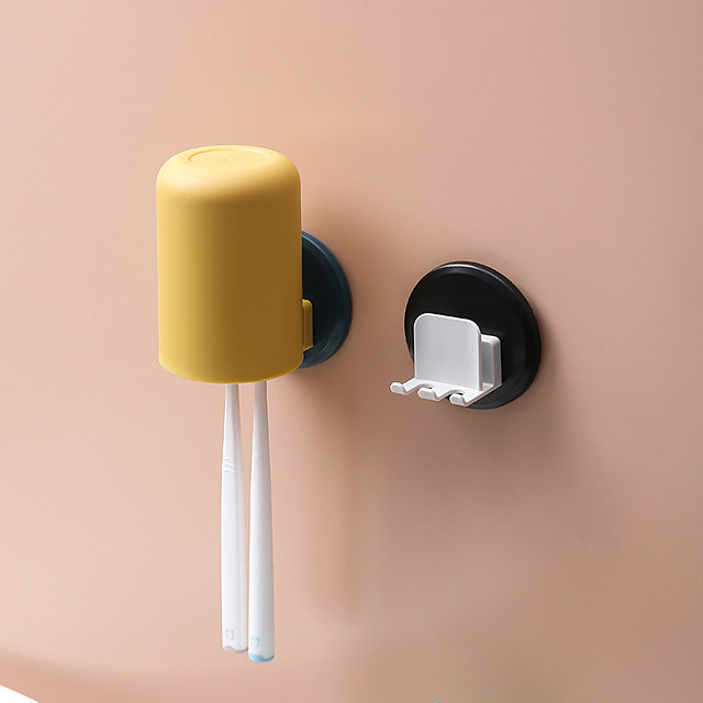 Avoid Holing Toothbrush Rack Toilet Wall Absorption Shelf Household Multifunctional Toothbrush Gargle Suit Children Color Random