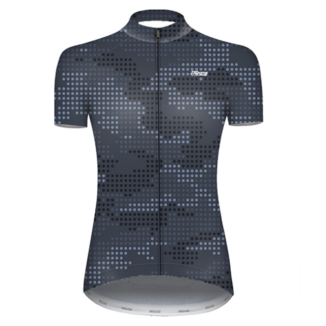 21Grams Women's Short Sleeve Cycling Jersey Nylon Polyester Camouflage Polka Dot Camo / Camouflage Bike Jersey Top Mountain Bike MTB Road Bike Cycling Breathable Quick Dry Ultraviolet Resistant Sports