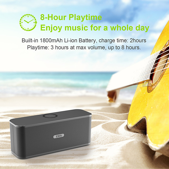 New Released! EWA W300 Bluetooth Speaker of 2*6W Power 4000mAh Battery Wireless Portable Speaker For Travel Outdoor Party
