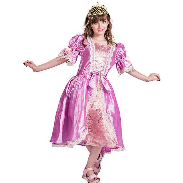 Princess Rapunzel Aurora Flower Girl Dress Girls' Movie Cosplay A-Line Slip Pink Dress Carnival Children's Day Masquerade Polyester