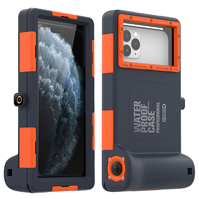 Case for iPhone 11Pro Max Waterproof Diving Special Mobile Phone Case XS Max With Bluetooth Camera Function to Send Anti-lost Lanyard Suitable For iPhone 6 7 8Plus SE 2020 Protective Case