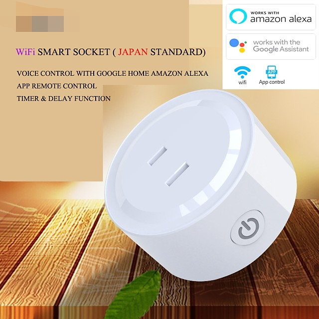 10A Japan Plug WiFi APP Remote Control Mini Smart Intelligent Power Plug Socket Outlet JAPAN Standard with Timer Function Over Load Protection