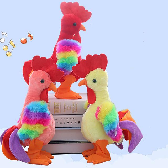 1 pcs Electronic Pets Stuffed Animal Plush Doll Talking Stuffed Animals Plush Toy Plush Toys Plush Dolls Chicken Cartoon Parent-Child Interaction PP+ABS Plush Imaginative Play, Stocking, Great / Kids