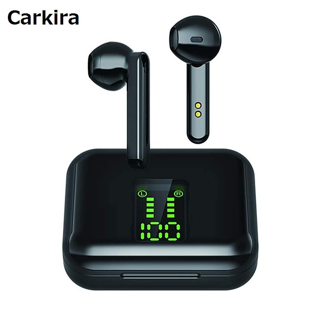 CARKIRA X15 TWS True Wireless Earbuds Wireless Stereo with Microphone with Volume Control with Charging Box Smart Touch Control for Sport Fitness