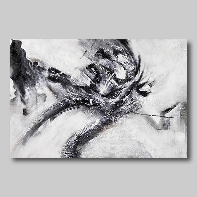 Oil Painting Hand Painted - Abstract Abstract Landscape Comtemporary Modern Rolled Canvas