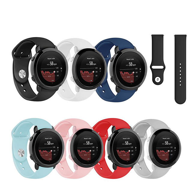 Sport Silicone Wrist Strap Watch Band for Suunto 3 Fitness Replaceable Bracelet Wristband