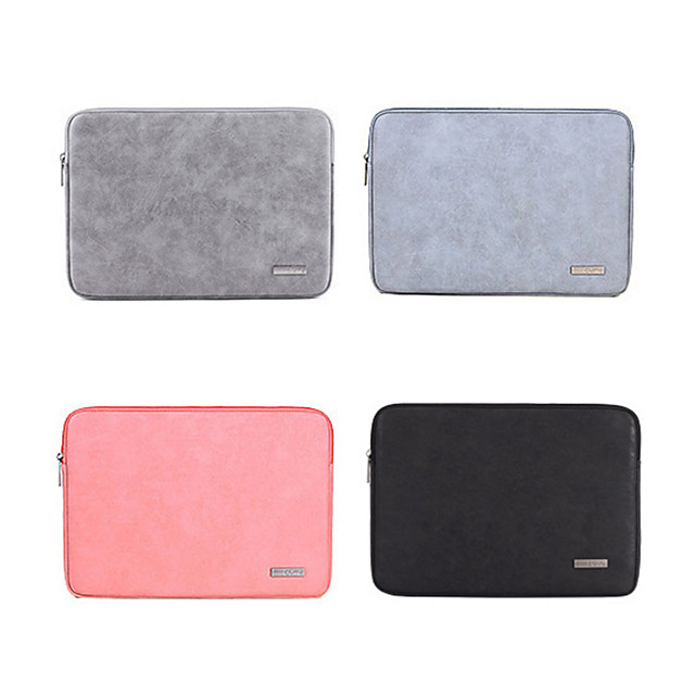 11.6 12 13.3 14 15.6 Inch Laptop Sleeve PU Leather Solid Color Fashion for Business Office for Colleages Schools for Travel Waterpoof Shock Proof