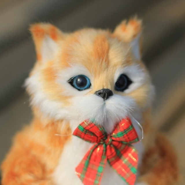 Stuffed Animal Plush Doll Simulation Plush Toy Plush Toys Plush Dolls Stuffed Animal Plush Toy Cat Plush Imaginative Play, Stocking, Great Birthday Gifts Party Favor Supplies Boys and Girls Adults