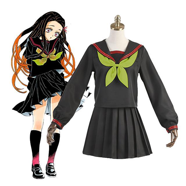 Inspired by Demon Slayer: Kimetsu no Yaiba Kamado Nezuko Anime Cosplay Costumes Japanese Cosplay Suits School Uniforms Socks Tie Costume For Women's Girls'