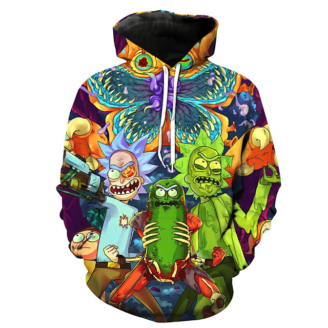 Inspired by Rick and Morty Cosplay Costume Hoodie Terylene Print Printing Hoodie For Men's / Women's