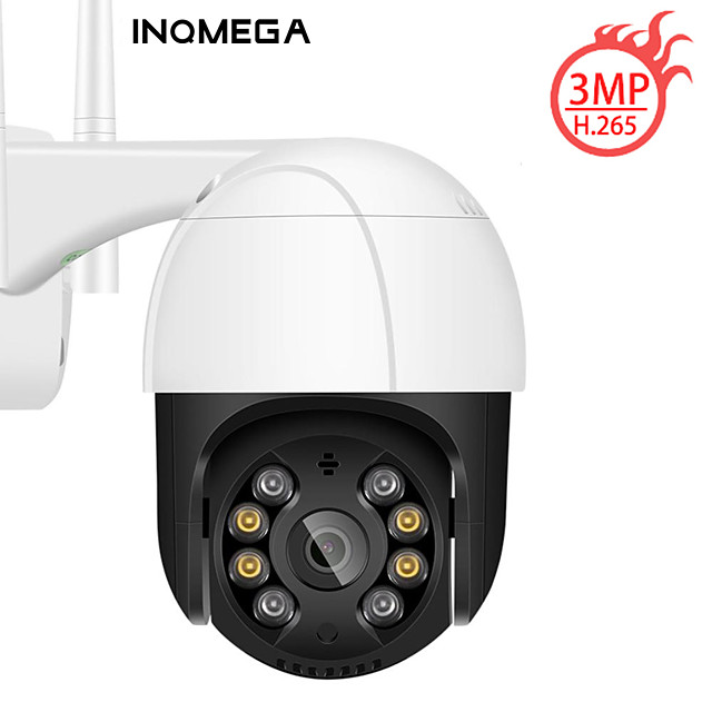 INQMEGA PTZ IP Camera Ai WiFi Cloud Storage Motion Voice Alert 3MP CCTV Camera Color IR Light Ai Audio Security Surveillance C