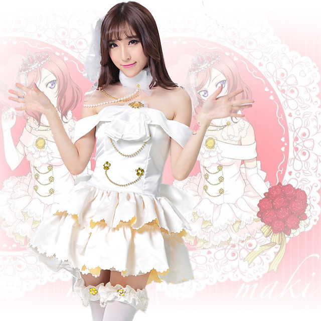 Inspired by Love Live Anime Cosplay Costumes Japanese Cosplay Suits Dresses Dress Headwear Neckwear For Women's