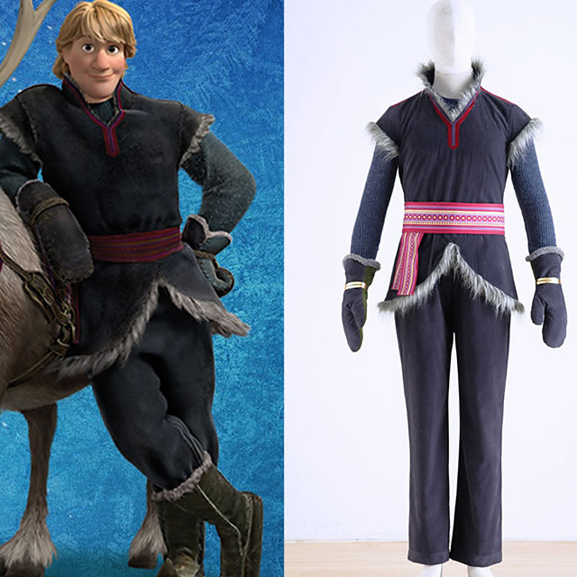 Inspired by Cosplay kristoff Anime Cosplay Costumes Japanese Cosplay Suits Vest Top Pants For Men's Boys' / Gloves / Sash / Ribbon