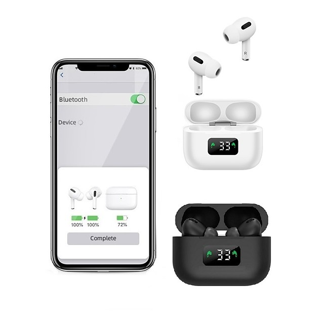 LITBest i58 TWS True Wireless Earbuds Bluetooth 5.0 Stereo with Microphone Charging Box Auto Pairing LED Power Display for Travel Entertainment