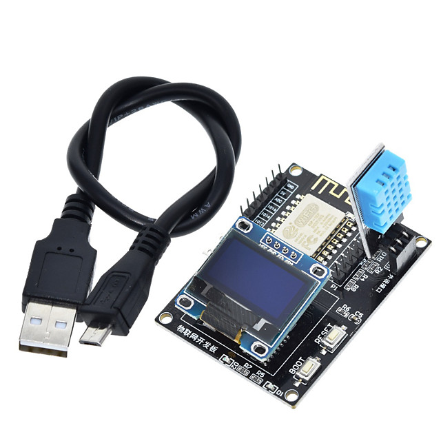 ESP8266 IoT Development Board DHT11 Temperature and Humidity 0.96 oled Display SDK Programming Wifi Module Small System Board