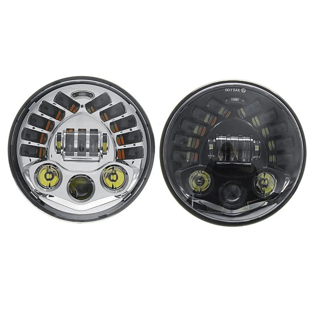 7inch LED Projector Headlights Hi/Lo Beam DRL Turn Signal Light For Harley Davidson