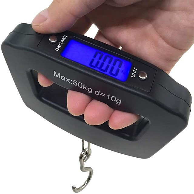 50Kg 10g LCD Home Electronic Digital Portable Hanging Weight Hook Travel Luggage Scale