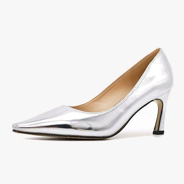 Women's Heels Summer Stiletto Heel Pointed Toe Daily PU Pink / Gold / Silver