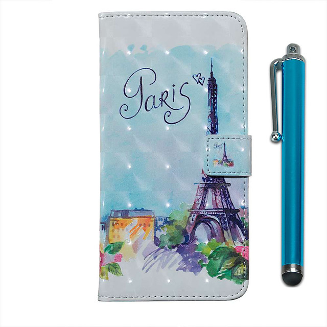 Case For Samsung Galaxy S20 S20 Plus S20 Ultra Wallet Card Holder with Stand Full Body Cases Iron Tower PU Leather TPU for Galaxy A51 A71 A01 A50(2019) A30S(2019) A70(2019) A20(2019)