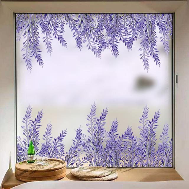Lavender Matte Window Stickers Shop Living Room Bedroom Balcony Window Film 60*58cm