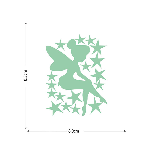 Luminous Stickers Fairy Stars And Five-pointed Stars Home Background Decoration Removable Stickers