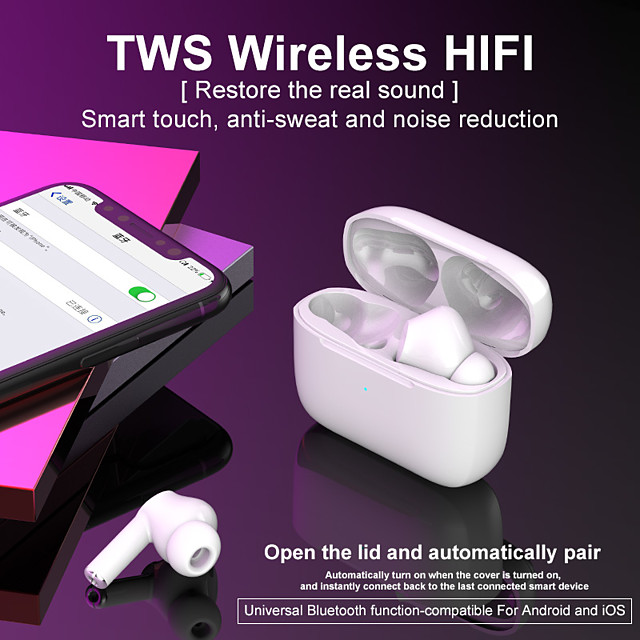 Original Y35 TWS True Wireless Earbuds Wireless Bluetooth 5.0 Stereo Dual Drivers Auto Pairing Smart Touch Control for Mobile Phone