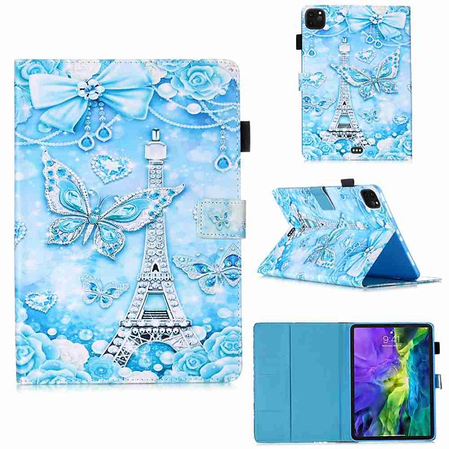 Case For Apple iPad Pro 11''(2020) / iPad 2019 10.2 / Ipad air3 10.5' 2019 Wallet / Card Holder / with Stand Full Body Cases Tower Butterfly PU Leather / TPU for iPad Air / iPad Air2 / iPad (2018)