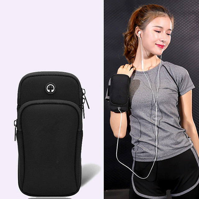Phone Armband Running Armband for Running Hiking Outdoor Exercise Traveling Sports Bag Reflective Adjustable Waterproof Neoprene Men's Women's Running Bag Adults