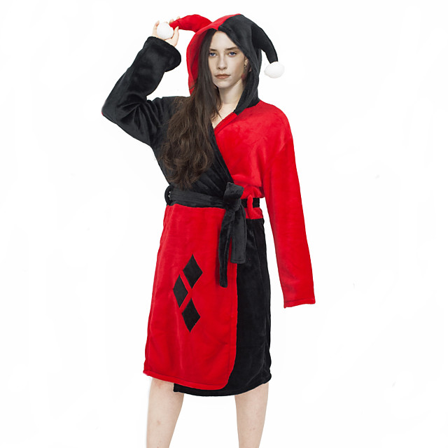 Inspired by Suicide Squad Harley Quinn Anime Cosplay Costumes Japanese Sleepwear Bath Robe For Women's