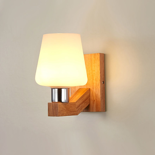 Country  Modern Wall Lamps & Sconces Living Room  Dining Room Wood  Bamboo Wall Light 110-120V  220-240V 12 W