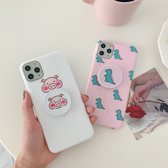 Cartoon TPU with Ring Holder Protection Cover  for Apple iPhone Case 11 Pro Max X XR XS Max 8 Plus 7 Plus SE(2020)