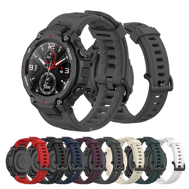 Sport Rubber Watch Band for Amazfit T-Rex Silicone Durable Watchband Strap for Huami Amazfit T-Rex