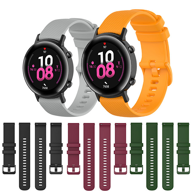 Sport Silicone Wrist Strap Watch Band for Huawei Watch GT 2 42mm / Honor Magic Watch 2 42mm / Watch 2 Replaceable Bracelet Wristband