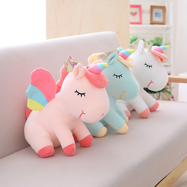 1 pcs Stuffed Animal Pillow Plush Doll Sofa Toys Plush Toys Plush Dolls Stuffed Animal Plush Toy Unicorn Cartoon Realistic Soothing PP Plush Imaginative Play, Stocking, Great Birthday Gifts Party