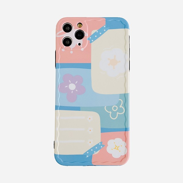 Case For Apple iphone 11/pro11proMax/x/XS/XR/XSMax/8p/8/7P/7/SE(2020)Cover TPU Flower soft shell  iphone case set