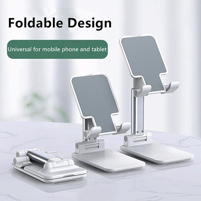 Portable Cell phone Holder Universal Adjustable Angle Lazy Desktop Holder for IPhone IPad Xiaomi Folding Mobile Phone Bracket