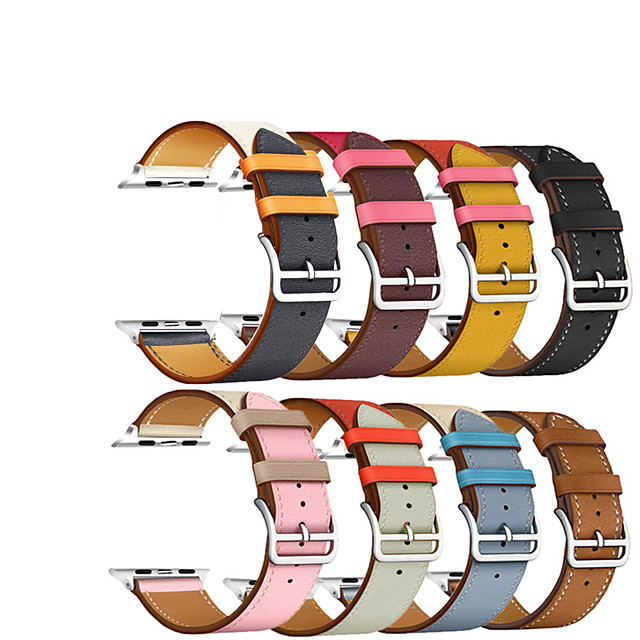 Watch Band for Apple Watch Series 5/4/3/2/1 Apple Sport Band / Jewelry Design / Business Band Genuine Leather Wrist Strap