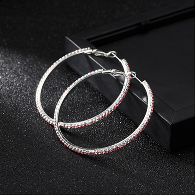 Women's AAA Cubic Zirconia Earrings Round Cut Mini Stylish Luxury Platinum Plated Gold Plated Earrings Jewelry Black / Silver / White / Fuchsia For Wedding Daily 1 Pair