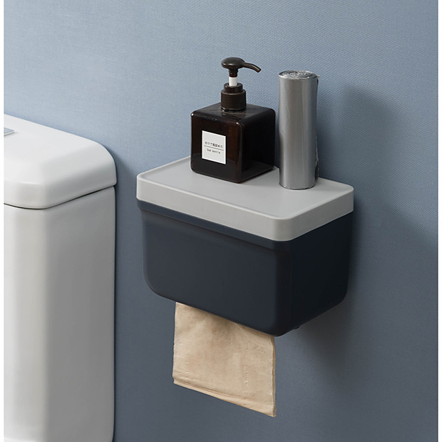 Toilet Ttissue Box From Drilling Toilet Paper Toilet Paper Roll Holder Creative Hand Shelf Carton Paper Color Random