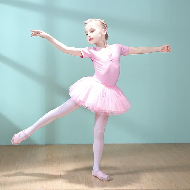Swan Lake Princess Ballet Dancer Girls' Movie Cosplay Princess Purple / Pink Dress Halloween Children's Day Cotton