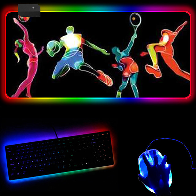 Creative Rgb Cool Youth Led Luminous Magic Mouse Pad Video Games Customized Keyboard Mouse Pad 250 * 350 * 4mm