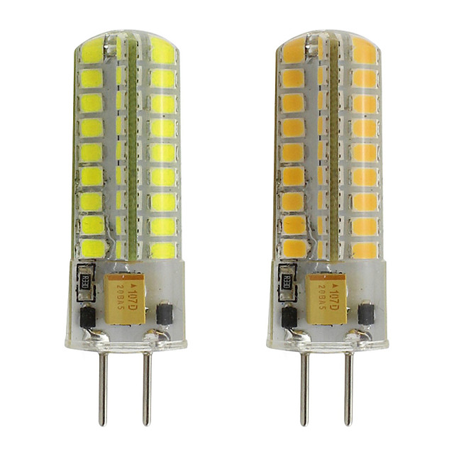 G6.35 Bulb Silicon LED AC 12V SMD2835 Spotlight Chandelier High Quality Lighting Replace Halogen Lamps *2