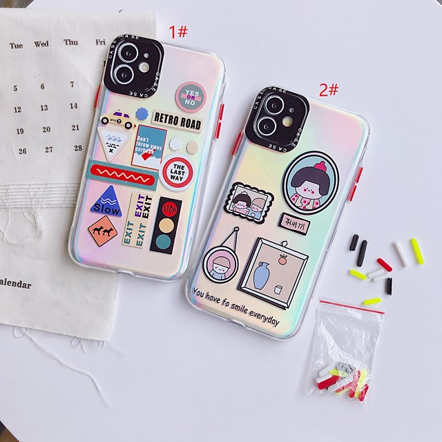 Laser Cartoon TPU for Apple iPhone Case 11 Pro Max X XR XS Max 8 Plus 7 Plus SE(2020) Protection Cover